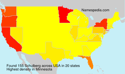 Surname Schulberg in USA