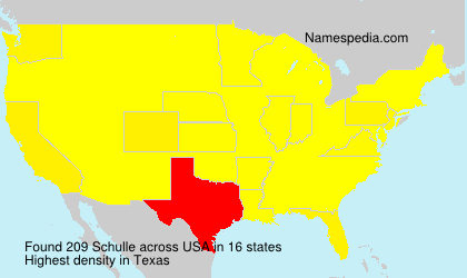 Surname Schulle in USA