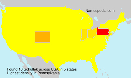 Surname Schullek in USA