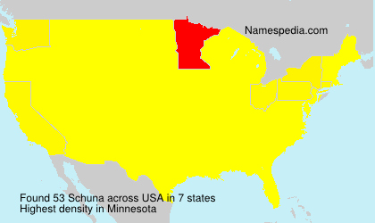 Surname Schuna in USA