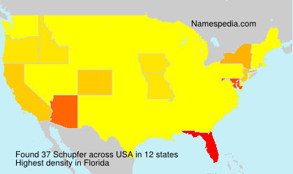 Surname Schupfer in USA