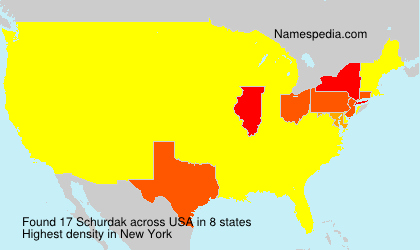 Surname Schurdak in USA
