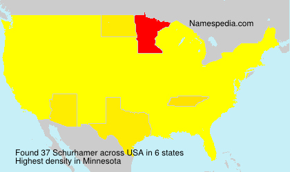 Surname Schurhamer in USA