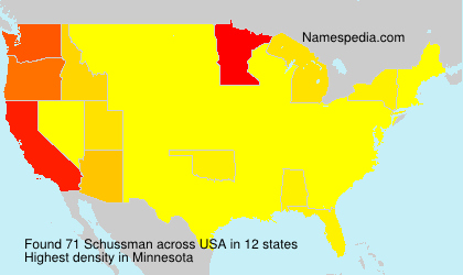 Surname Schussman in USA