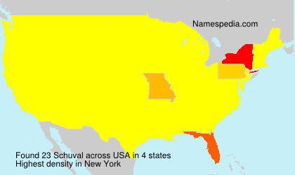 Surname Schuval in USA