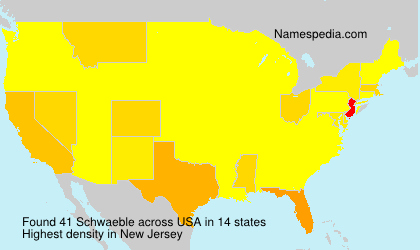 Surname Schwaeble in USA