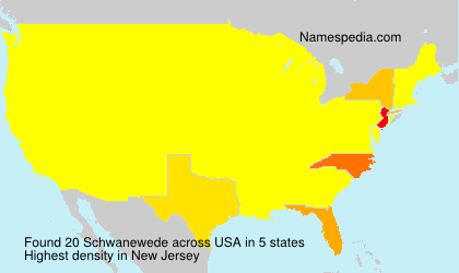Surname Schwanewede in USA