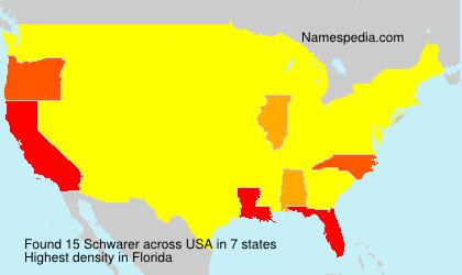Familiennamen Schwarer - USA