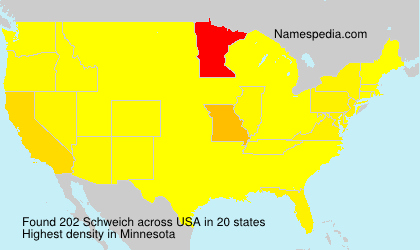 Surname Schweich in USA