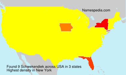 Surname Schwekendiek in USA