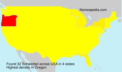 Surname Schwerbel in USA