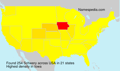 Surname Schwery in USA