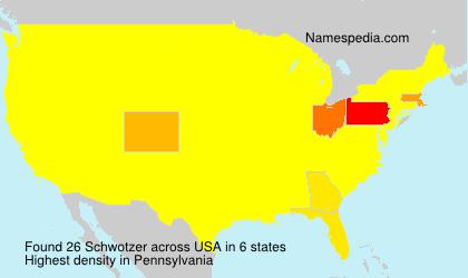 Surname Schwotzer in USA