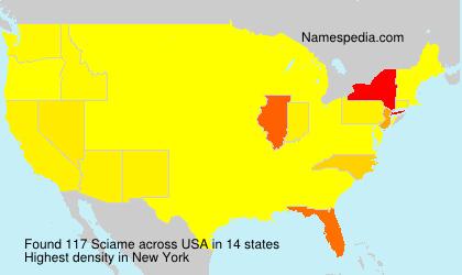Surname Sciame in USA