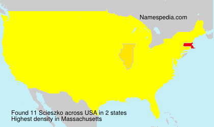 Surname Scieszko in USA