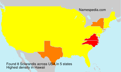 Surname Sclarandis in USA