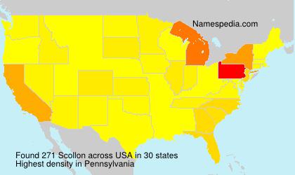 Surname Scollon in USA