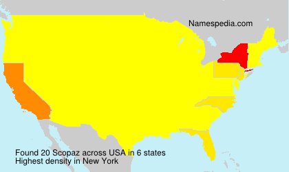 Surname Scopaz in USA