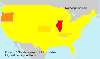 Surname Scorte in USA