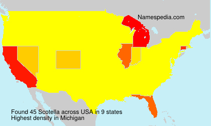 Familiennamen Scotella - USA