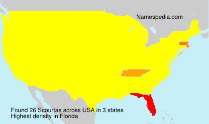 Familiennamen Scourtas - USA
