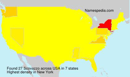 Surname Scovazzo in USA
