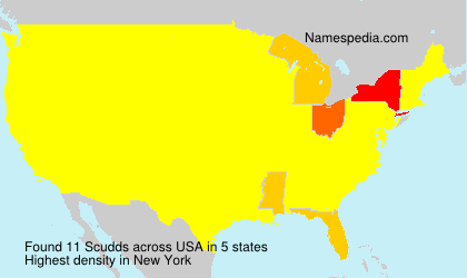 Surname Scudds in USA