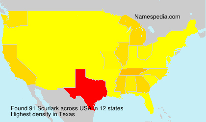 Surname Scurlark in USA