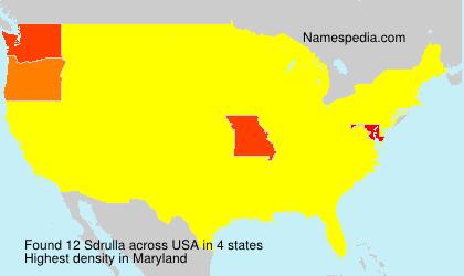 Surname Sdrulla in USA