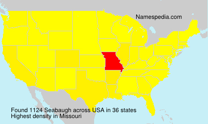 Surname Seabaugh in USA