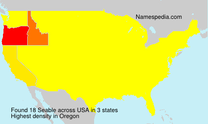 Surname Seable in USA