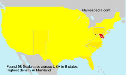 Surname Seabrease in USA