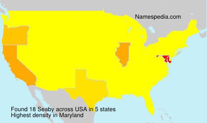 Surname Seaby in USA