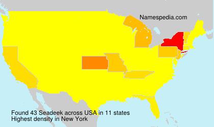Familiennamen Seadeek - USA