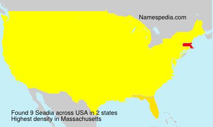 Surname Seadia in USA