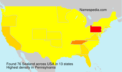 Surname Sealand in USA