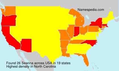 Surname Seanna in USA