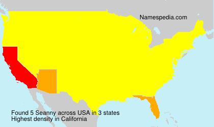 Familiennamen Seanny - USA