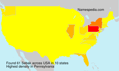 Surname Sebak in USA