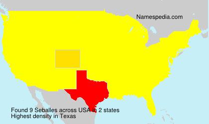 Surname Seballes in USA