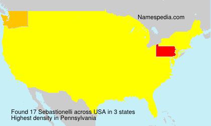 Familiennamen Sebastionelli - USA