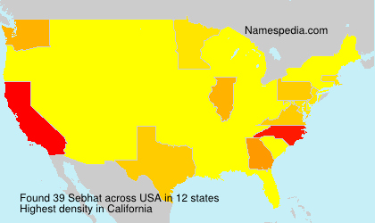 Surname Sebhat in USA
