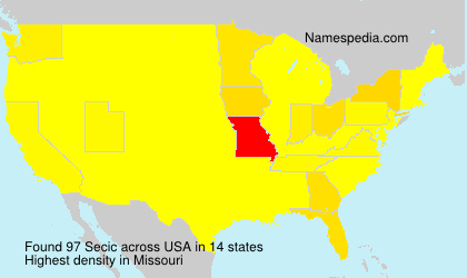Surname Secic in USA