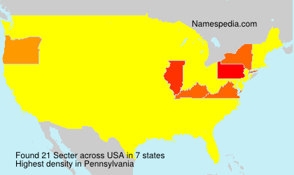Surname Secter in USA