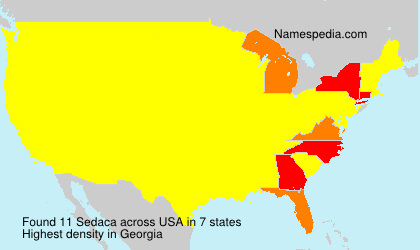 Surname Sedaca in USA