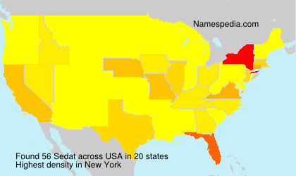 Familiennamen Sedat - USA