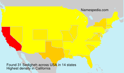 Surname Sedigheh in USA