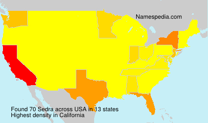 Surname Sedra in USA