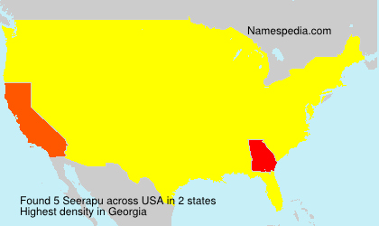 Surname Seerapu in USA