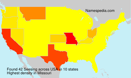 Surname Seesing in USA